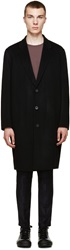 Acne Studios Black Wool Charles Coat