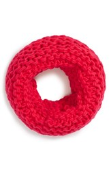 Junior Women's Bp. Chunky Knit Infinity Scarf Coral Coral Hot