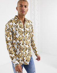 Sik Silk Siksilk Long Sleeve Resort Shirt White