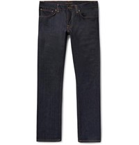 Nudie Jeans Grim Tim Slim Fit Organic Stretch Denim Dark Denim
