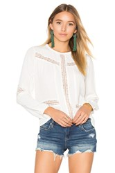 Amuse Society Escapade Woven Top White