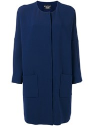 Boutique Moschino Loose Fit Coat Blue