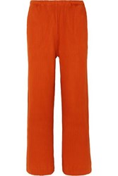 Baserange Net Sustain Gita Ribbed Organic Cotton Fleece Pants Orange