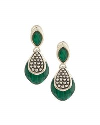 Lagos Maya Silver Lapis Double Drop Earrings Green