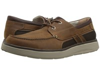Clarks Un Abode Step Dark Tan Leather Slip On Shoes Brown