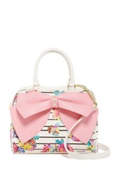 Betsey Johnson Ready Set Bow Satchel Pink