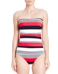 Tommy Bahama Bold Stripe And Anchor One Piece Swimsuit