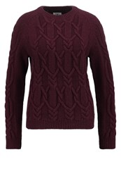 Barbour Snowfall Jumper Merlot Bordeaux