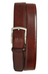 Magnanni Big And Tall Tanning Leather Belt Tobacco