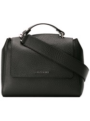Orciani Flap Shoulder Bag Black