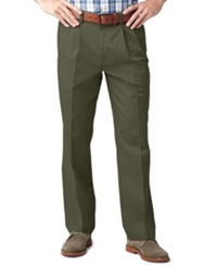 Dockers D3 Classic Fit Easy Refined Khaki Pleated Pants Rifle Green