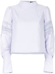 Aula Embroidered Details Blouse Pink And Purple