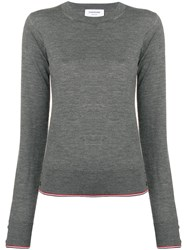 Thom Browne Rwb Tipping Cashmere Pullover Grey