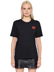 Markus Lupfer Patch Lips Cotton Jersey T Shirt