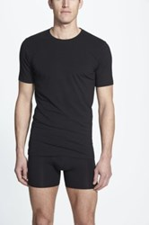 Naked Essential 2 Pack Stretch Cotton T Shirt Black
