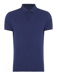 Criminal Pete Plain Polo Slim Fit Polo Shirt Navy
