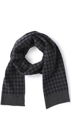 Jack Spade Beacon Houndstooth Scarf Navy