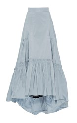 Peter Pilotto Stone Blue Taffeta Long Skirt
