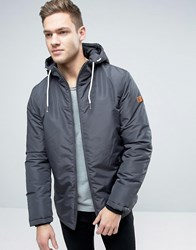 Jack And Jones Hooded Parka With Fleece Lining Asphalt Grey