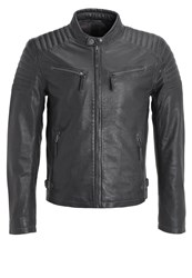 Gipsy Chester Leather Jacket Grey Dark Grey