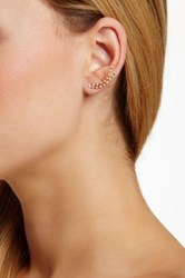 18K Yellow Gold Plated Sterling Silver Cz Ear Climbers