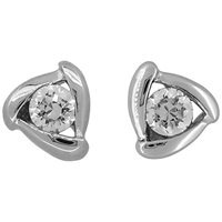 Jools By Jenny Brown Cubic Zirconia Triangular Stud Earrings