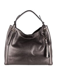 Cole Haan Adair Leather Hobo Bag Gunmetal