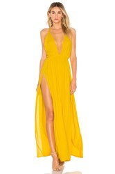 Indah Revival Maxi Dress Yellow