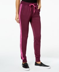 Jessica Simpson The Warm Up Juniors' Logo Jogger Pants Italian Plum