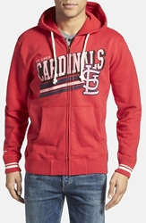 Mitchell U0026 Ness 'St. Louis Cardinals No Grind' Tailored Fit Full Zip Hoodie Dark Red