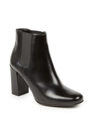 Saint Laurent Babies Leather Block Heel Booties Nior