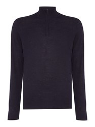 Howick Men's Arlington Lightweight Funnel Neck Jumper Navy
