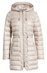 Kenneth Cole New York Long Hooded Puffer Coat Frost Dusty Rose