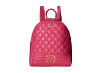 Love Moschino Quilted Mini Backpack Fuchsia Backpack Bags Pink