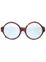 Vera Wang Oversized Round Sunglasses Brown