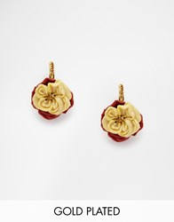 Les Nereides Floral Earrings Pink Salmon