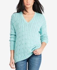 Polo Ralph Lauren V Neck Sweater Summer Mint
