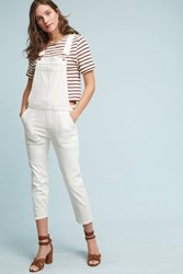 Anthropologie Citizens Of Humanity Audrey Ultra High Rise Skinny Overalls White