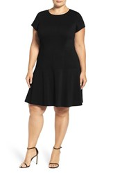 Ellen Tracy Plus Size Women's Drop Waist Ponte Dress