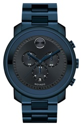 Movado 'Bold' Chronograph Bracelet Watch 44Mm Blue