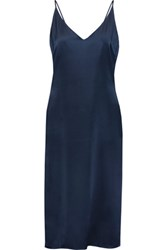 W118 By Walter Baker Kendall Cutout Silk Dress Navy