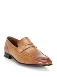 Bally Brent Kangaroo Penny Loafers Brown