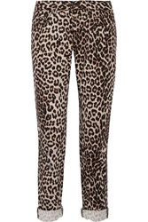Rag And Bone Leopard Print Mid Rise Boyfriend Jeans Animal Print