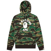 A Bathing Ape Tiger Camo College Hoody Green
