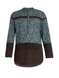 Kolor Relaxed Fit Decorative Print Shirt Green Multi