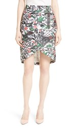 Ted Baker Women's London Lexan Crossover Faux Wrap Skirt Grey