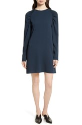 Tibi Women's Sav Crepe Shift Dress Navy