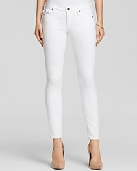 True Religion Jeans Casey Low Rise Super Skinny In Optic White