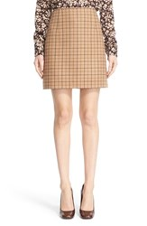 Michael Kors Women's Plaid Wool A Line Skirt