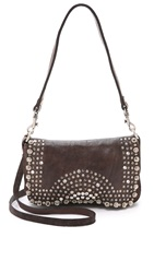 Campomaggi Studded Cross Body Bag Grigio